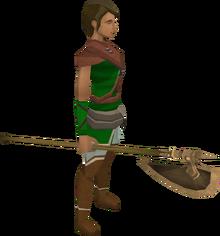 Bronze halberd equipped