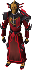 Black Knight captain's armour equipped