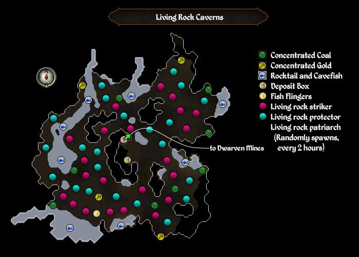 Living Rock Caverns map