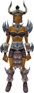 Barbarian outfit (female) equipped