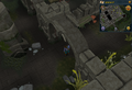 Compass clue Canifis entrance of banshees at Slayer Tower.png