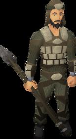 Morrigan's javelin equipped