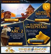 Summer of Adventure interface