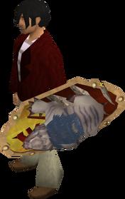 Anti-dragon shield (mole) equipped