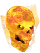 Flaming skull chathead (red)