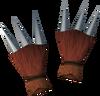 Werewolf claws (red, male) detail