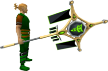 Banner of Sliske (tier 4) equipped