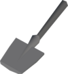 Metal spade (head) detail