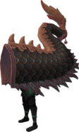 Black zodiac costume (tail) equipped