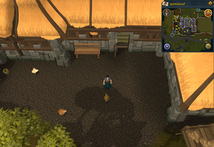 Compass clue Falador at the farm