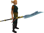 Glaive equipped