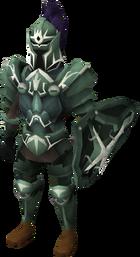 Een speler die adamant trimmed armour draagt.