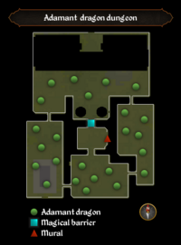 Adamant dragon dungeon map