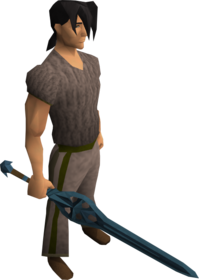 Rune longsword equipped
