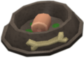 Dragon's food bowl with meat
