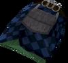 Highland kilt (purple, male) detail