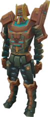 Achto Teralith armour equipped