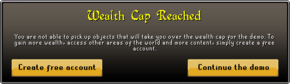 Wealth cap reached