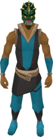 Helm of Darkness equipped