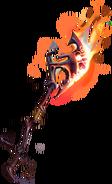 Scorching axe illustration