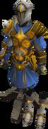 Warpriest of Saradomin armour on stand