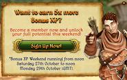 5x Bonus XP Login pop-up on F2P