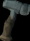 Off-hand kratonite warhammer detail