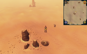 Scan clue Kharidian Desert north of Nardah, close to rocks