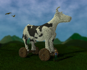 Woollen horse of Troy