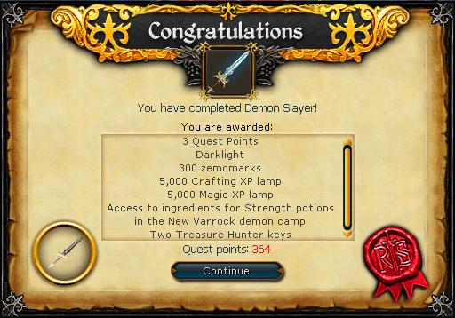 Demon Slayer (Dimension of Disaster) reward