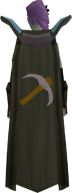 Retro mining cape equipped