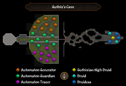 Guthix's Cave map