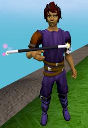 Balancing wand equipped
