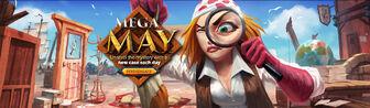 Mega May head banner