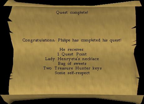 Philipe's reward