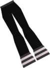 Black navy slacks detail