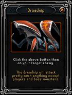 Dreadnip activation screen