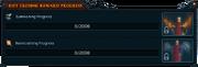 Rift closing reward progress interface