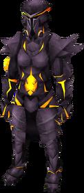 Obsidian plateskirt equipped