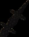 Black salamander detail