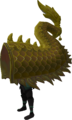 Gold zodiac costume (tail) equipped.png