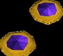 Theatrical earrings (purple)