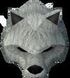 Werewolf mask (white, male) detail