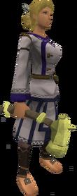 Zephyrium warhammer equipped