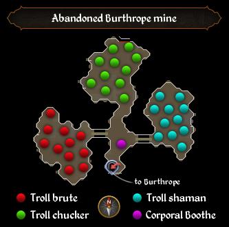 Abandoned Burthrope mine map