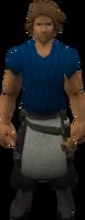 Retro labourer's apron (male)