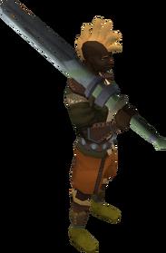 Gorgonite 2h sword equipped