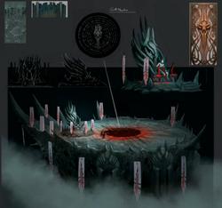 Castle Drakan top concept art