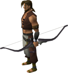 Tangle gum longbow equipped