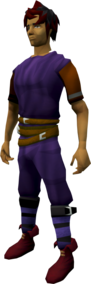 Ranger boots (red) equipped